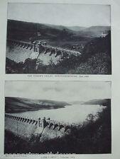ANTIQUE PRINT 1926 WATER SUPPLY THE VYRNWY VALLEY PHOTO 1888 MONTGOMERYSHIRE ART