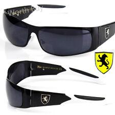 Nuevo Khan Caballeros Deportivo Rectangular Gafas de Sol Diseño Marco Metálico