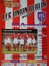 Programm 2003/04 Union Berlin - VfL Osnabrück