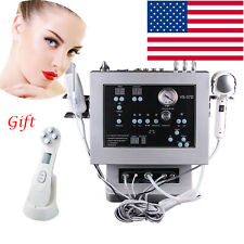 4-1 Diamond Microdermabrasion Ultrasound Cold Warm Hammer Skin Scrubber Device U