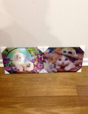 3D Lenticular WOOD wall display Plaque So Adorable Cats Kittens - Great 4 Gifts