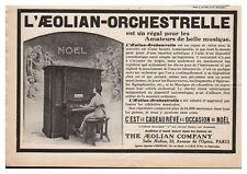 PUBLICITE PIANO AEOLIAN ORCHESTRELLE par a. EHRMANN 1913