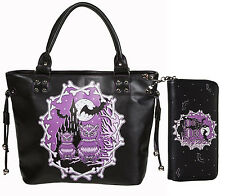 """Banned """"Secret Obsession"""" Owls Castle School Shoulder Bag & Wallet SET Halloween"""