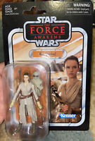 "KENNER STAR WARS VINTAGE 3.75"" REY JAKKU FIGURE WAVE 1 THE FORCE AWAKENS MOC"