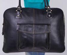 LIZ CLAIBORNE Extra Large Black Leather Shoulder Hobo Tote Satchel Purse Bag