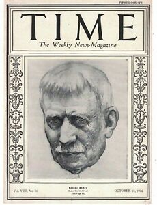 1926 Time October 18 - Elihu Root;Negroes hung and shot in Aiken SC and Dover TN