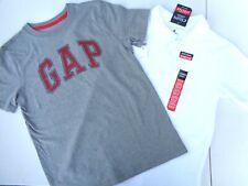 New 2 Tee T-shirt Boys Clothes Sz 10 - 12 Regular Gap Logo Chaps uniform Polo
