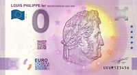 BILLET 0  EURO LOUIS PHILIPPE ROI DE FRANCE 2021 NUMERO DIVERS