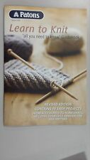Patons Learn to Knit Pattern Book No 1249 19 Projects