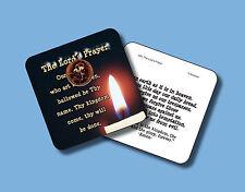"""The Lords Prayer"" Poem / 1 Cross Penny / Carded Genuine US Coin / POCO -sku 504"