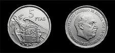 5 Pesetas Ptas Francisco Franco 1957 Spain Coin A7