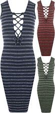 Ärmellose knielange Damenkleider mit V-Ausschnitt für Business-Anlässe