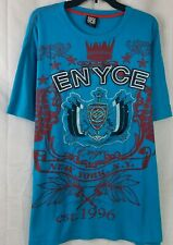 ENYCE Mens T-Shirt Blue NYC Graphic Embroidery Short Sleeve Sean Combs Size 3X
