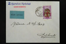 Ethiopia 1930 Stamped Flight Cover to Djibouti