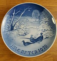 1970 Bing & Grondahl B&G Christmas Pheasants in the Snow Christmas 7 inch #d
