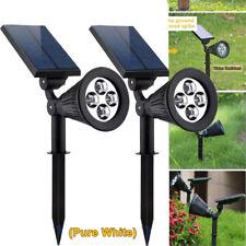 2x 4 LED Solar Power Spotlight Outdoor Lawn Landscape Light Garden Walkway Lamp