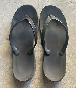 HURLEY ONE AND ONLY MENS BLACKS SURF THONGS SIZE 11 SLIDES FLIP FLOPS