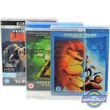10 x Blu Ray Slip Cover Box Protector STRONG 0.5 Plastic Protective Display Case