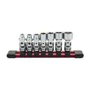 Sunex Tools 7-Piece 1/4 in. Drive Universal Socket Set- Fractional SAE Fractiona