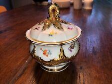 Meissen Prunkzuckerdose Zucherdose Streublümchen Gold B Form