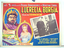 HISTORY /LUCRECIA BORGIA/MARTINE CAROL/1952/MEXICAN LOBBY CARD/CHRISTIAN JACQUE