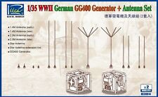 Riich Models RE30014 1/35 WWII German GG400 Generator & Antenna Set w/PE (2pcs)