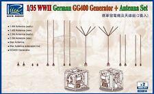 Riich Models RE30014 1/35 WWII German GG400 Generator & Antenna Set w/PE (2pcs)