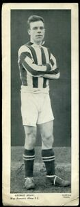 Trade Card, Topical Times, FOOTBALLERS, 1934, 250 x 95, George Shaw, West Brom