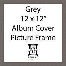 Handmade Grey 12'' x 12'' Album Cover Picture Frame - Vinyl Record