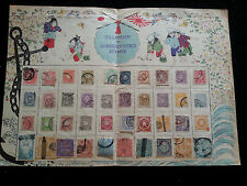 Japan - alte Collection of Japanese Postage Stamps - Sammlung - Faltblatt