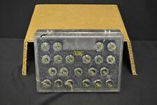 ERICKSON 100DA 21 PIECE S-104 COLLET SET 1/64 INCREMENTS