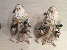 "Fitz And Floyd Gregorian Porcelain Santa Signature Collection #58/2000 12"" Euc"