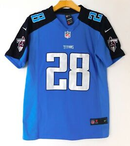 NIKE TENNESSEE TITANS Chris JOHNSON #28 JERSEY NFL Sewn YOUTH or WOMEN SMALL