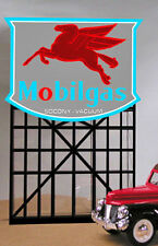 MOBILGAS PEGASUS NEON ANIMATED HO/N SIGN FLASHES & MORE w/Pegasus symbol