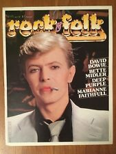 DAVID BOWIE - Very rare promotional advertising  for Rock&Folk Magazine - 1981