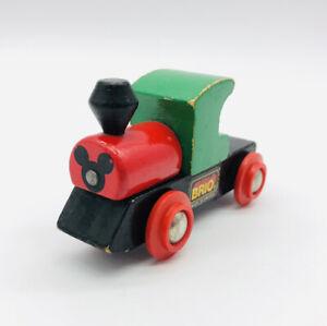 Brio Disney Mickey Train Engine Vehicle Magnetic Thomas Train Compatible Wooden