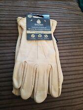 Kent & stowe Mens (M) Luxury Leather Water Resistant Gardening Gloves