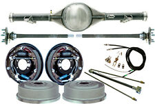 "CURRIE 63-70 CHEVY C10 5-LUG TRUCK REAR END & 11"" DRUM BRAKES,LINES,CABLES,AXLES"