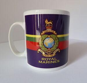 Royal Marine Commando Crest Gift Mug Full Colour Graphic Personalised For Free