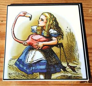Alice in Wonderland ceramic coasters (6 designs available)