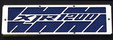 "cache / Grille de radiateur inox poli 1200 XJR ""Kenny Roberts"" + grillage bleu"