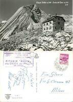 Cartolina di Cortina d'Ampezzo, rifugio - Belluno, 1964