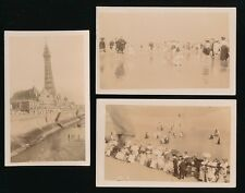 Lancashire Lancs BLACKPOOL 4 early Edwardian beach scene RP PPCs