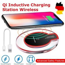 Qi Induktive Ladestation Wireless Charger Kabellose Ladegerät für iPhone XS/XR