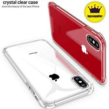 For iPhone X XR XS Max Slim Clear Case Crystal Transparent 11 Pro Max Hard Cover