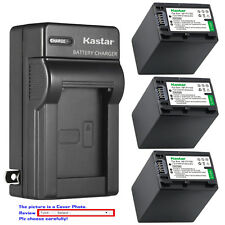 Kastar Battery Wall Charger for Sony NP-FV100 & Sony FDR-AX33 FDR-AX53 NEX-VG10