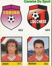 084 TORINO LUCCHESE URBAN MARINO ITALIA CARD CARTA CALCIO QUIZ VALLARDI 1991