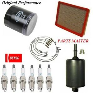 Tune Up Kit Filters Spark Plugs Wire For PONTIAC GRAND PRIX V6; 3.8L 1999-2003