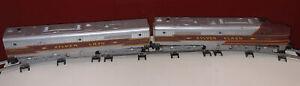 Vintage American Flyer S 478 & 479 Silver Flash Diesel Locomotive Set