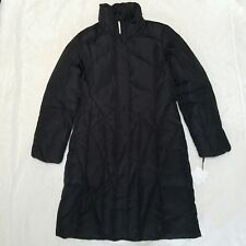 Calvin Klein Womens M Down & Feather Quilted Long Heavy Coat Winter Black